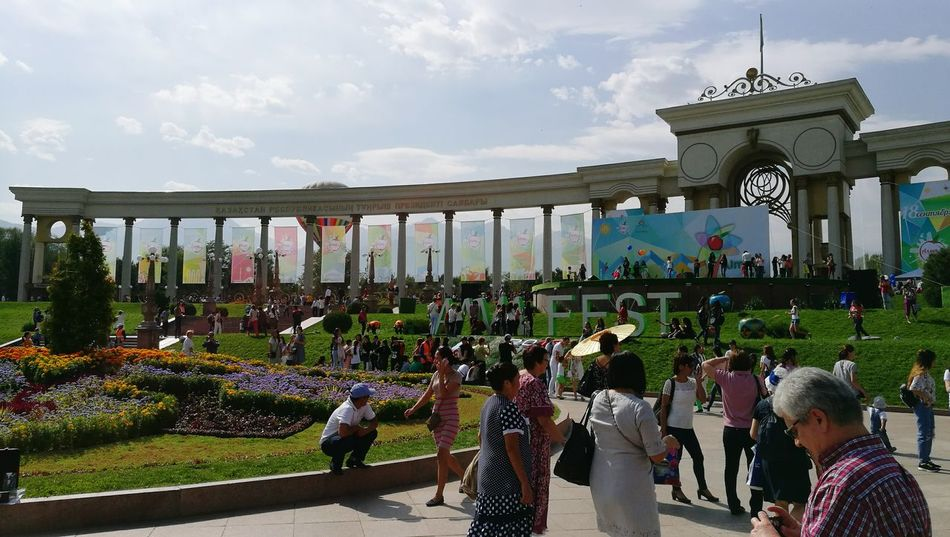 Apple Fest ALMATY 2016 Large Group Of People Lifestyles Architecture Outdoors Day Culture First President Park Almaty Kazakhstan♥ Sunny Almaty City Decoration Weekend Activities City City Life