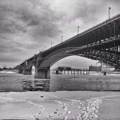 Just another bridge AMPt_community Blancoynegro Bridge Monochrome