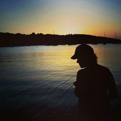 Atardecer Ibiza Calas Siluetas