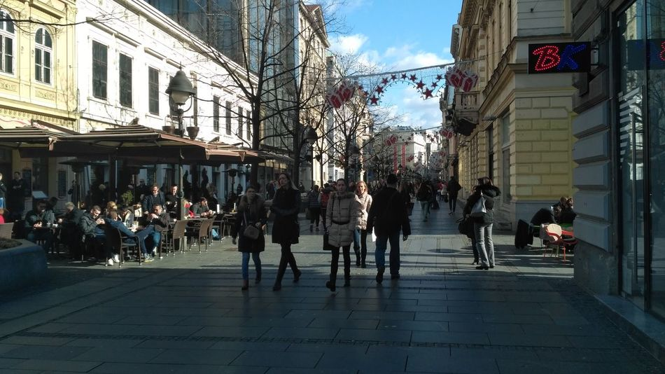 City City Life Architecture Sky Travel Destinations Lifestyles Built Structure Real People Outdoors Women People Building Exterior Day Belgrade,Serbia Belgrade Springtime Sunlight EyeEmNewHere City Architecture Knez Mihajlova Belgradestreets Belgradephoto