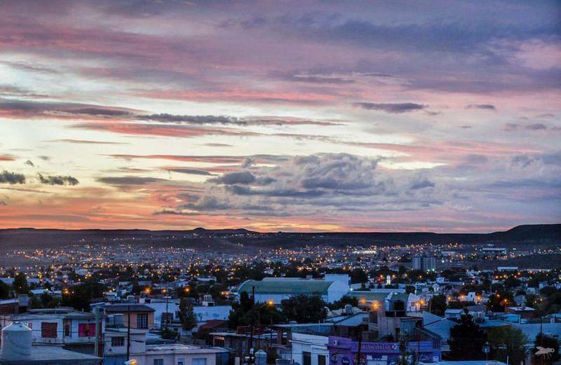 Cityscape Urban Skyline High Angle View Community Travel Destinations Patagoniaargentina Caleta Olivia, Santa Cruz