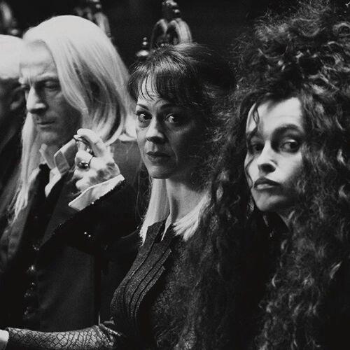 Harry HP Malfoy Lestrange harrypotter BellatrixLestrange LuciusMalfoy NarcissaMalfoy like