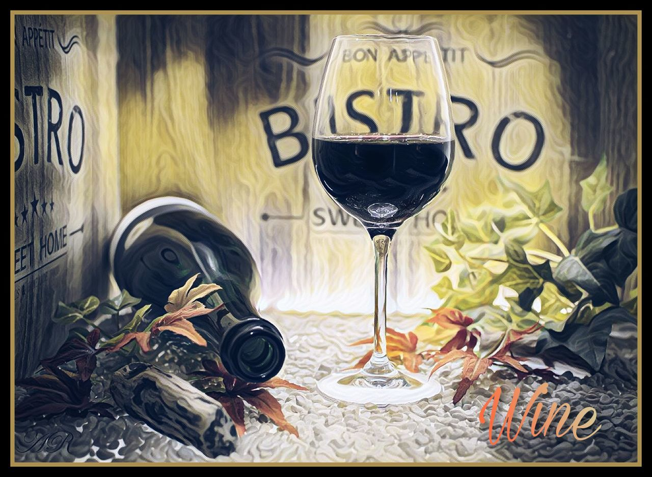 table, no people, indoors, wineglass, wine, day, freshness, flower, close-up