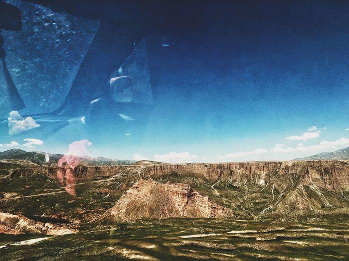 Blue Landscape Memories Roadtrip Travel Westchina Window