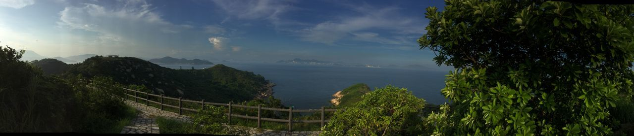 Cheung chau island near Hong Kong, hiking to north point Blue Connected With Nature Day Horizon Lush No People One Path Peace Plant Quiet Remote Sky Water