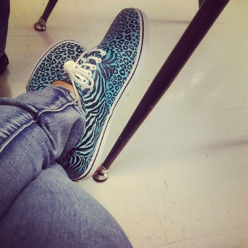 Wearing my new shoes