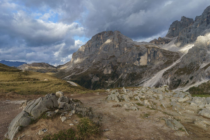 Clouds Day Dolomites Field Hiking Italy Landscape Mountain Nature No People Outdoors Pale Di San Martino Rocks San Martino Di Castrozza Scenics Sky Storm Trentino Alto Adige