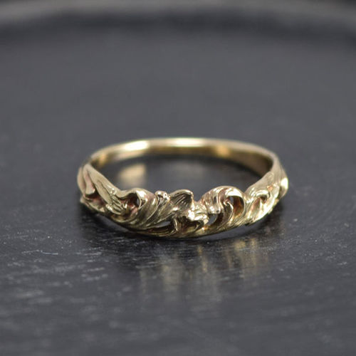 Gold Ring(10K) Ring Hand Made Jewelry Accessories Gold ArtWork MadetoOrder Hello World