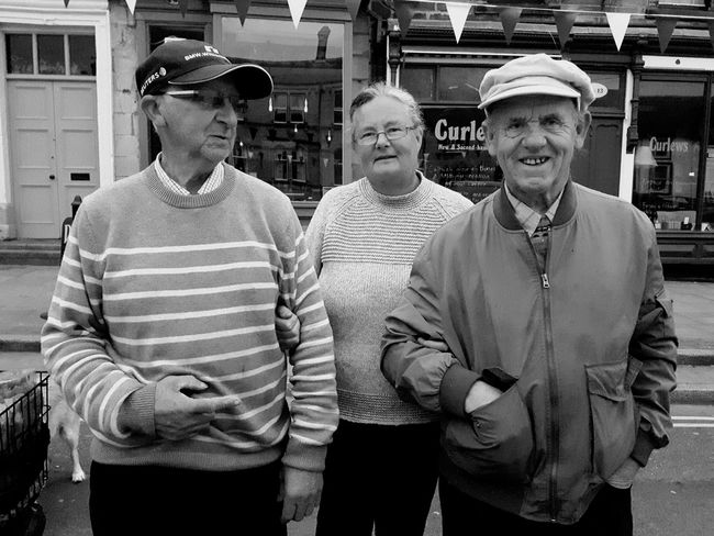 Get any closer and you'll be in my pocket. Barnard Castle Durham Friends Market Portrait Men Standing Looking At Camera The Street Photographer - 2018 EyeEm Awards