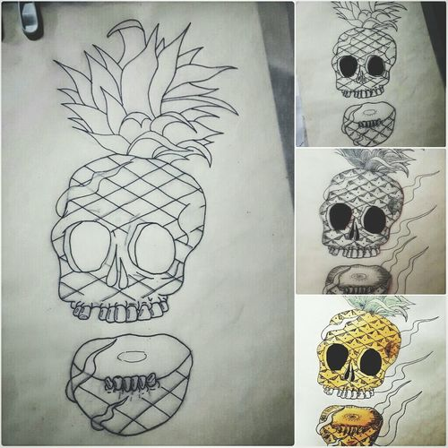 Calacapiña Calaca Pineapple 🎈👻 Drawing Drawing ✏ Dibujo Costa Rica Ink Drawing - Art Product No People Indoors  Close-up Day