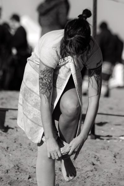 Standing One Person Outdoors Beach Photography Coney Island / Brooklyn NY Black And White Photography Brooklyn Ny One Woman Only Standing Towel Dressing Changing
