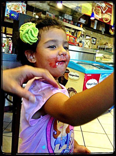 Ice Cream Colors Child Having Fun