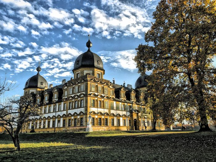 Schloss Seehof bei Bamberg Architecture Nature City Sky Tree Building Travel Tourism History The Past Spire  Plant Dome Government No People Travel Destinations Low Angle View Cloud - Sky Building Exterior Built Structure