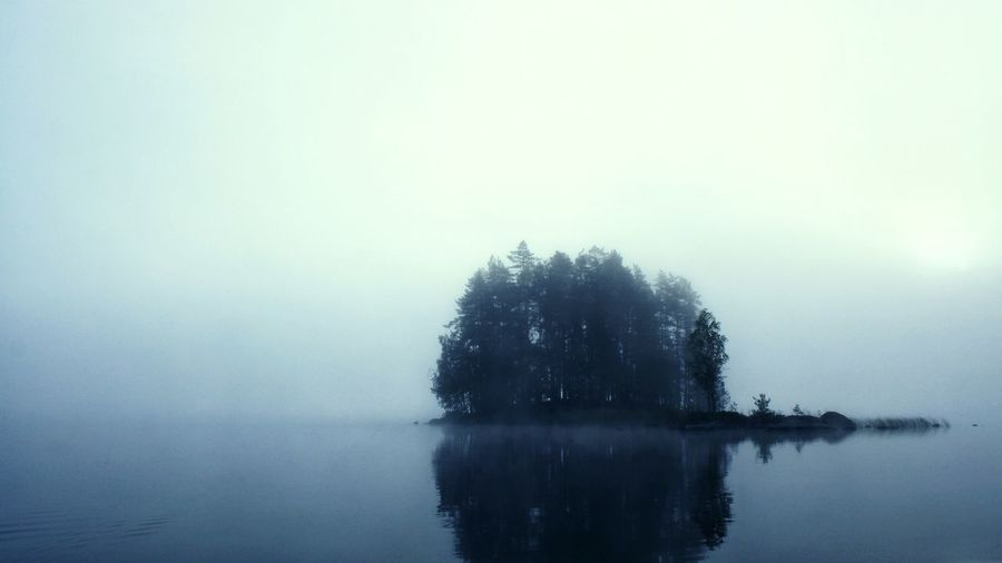 Reflection Fog Beauty In Nature Tree Nature Outdoors No People Water Scenics Winter Lake Tranquility Day Sky Cold Temperature Dawn Beauty In Nature Morning Reflection Shades Of Winter