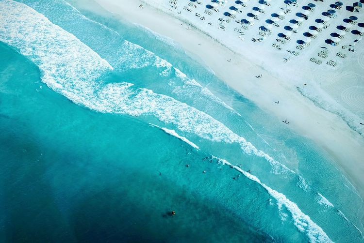Aerial View Beach Beauty In Nature Blue Blue Wave Idyllic Ocean Outdoors Relaxation Sand Scenics Sea Shore Sunlight Surf The Week On EyeEm Turquoise Colored Water Waterfront Wave Welcome Weekly The Great Outdoors - 2017 EyeEm Awards Lost In The Landscape Perspectives On Nature