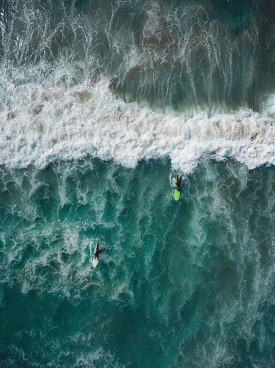 Surf's Up | DJI Mavick Pro EyeEmSelect Adventure High Angle View Motion Extreme Sports Nature Real People Day Water Leisure Activity Wave RISK Weekend Activities Sea Outdoors Beauty In Nature Men Sport Full Length People Only Men Ocean Lost In The Landscape Above Drone  Postcode Postcards Perspectives On Nature Second Acts The Great Outdoors - 2018 EyeEm Awards