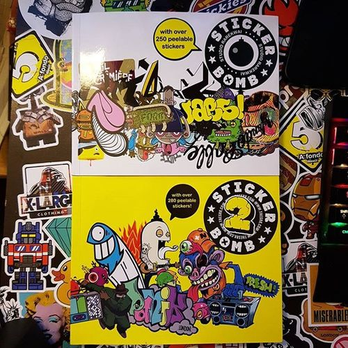 sticker bomb books turned up today!! Stickerbombing Stickerbomb Coveritup Stickers Gunnabeafunweekend NeverToOld Cool Nerd Geek Fun Funky Streetart Hobby