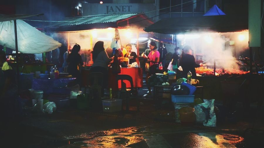 Sibu Sarawak night Market Food And Drink Food Hunter Low Light Illuminated Nightlife Men Crowd City Stall Market Stall Market First Eyeem Photo