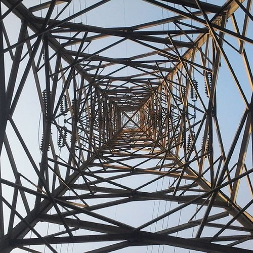 Directly_Below Day Electricity_Pylon Design Pattern Full_Frame Backgrounds Power_line