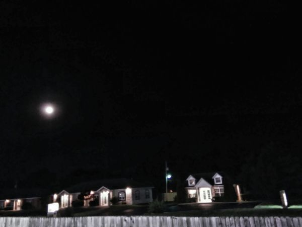 Suburban Moon Moon In The Sky Mood Captures Quaint Perspective Cozy Moments