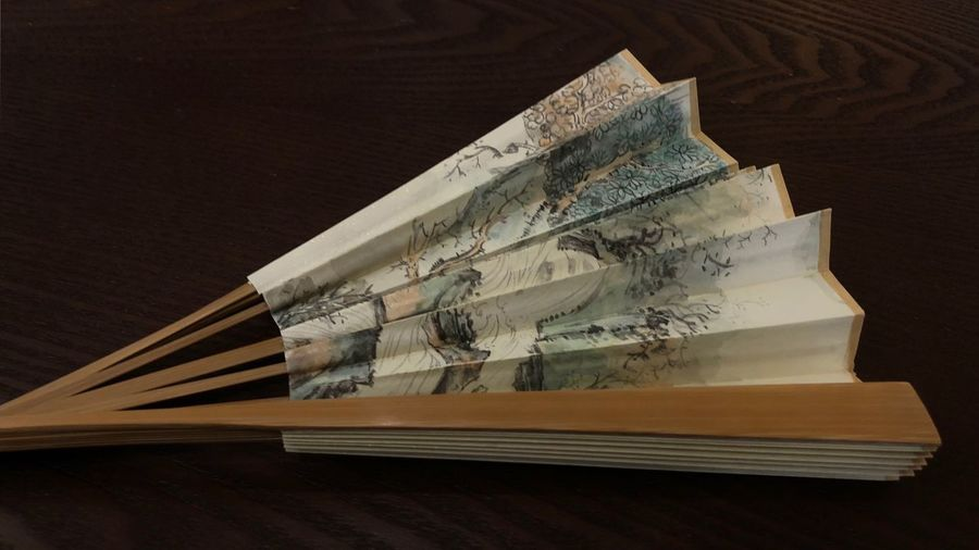 Folding Fan Table Paper Indoors  No People Still Life Publication Paper Currency