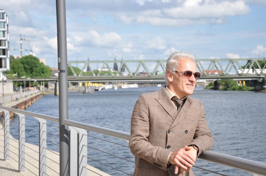 EyeEm Selects Water Railing River Smiling One Person Day Bridge - Man Made Structure Sky Nautical Vessel Outdoors Happiness EyeEmNewHere. Happiness Senior Adult Well-dressed Fashion Photography Portrait Looking At Camera Standing Lifestyles Built Structure Architecture Men Bremen Germany