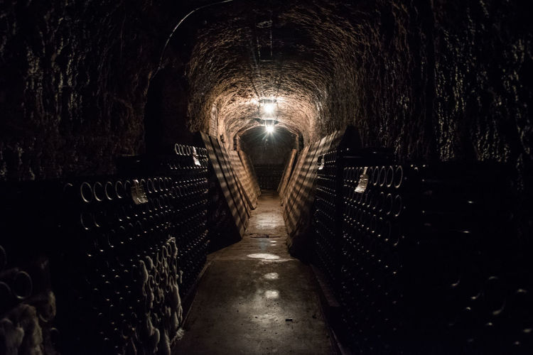 Beverage Champagne Ghost Mold Vineyards  Wine Bottle Wine Tasting Alcohol Bottles Collection Cava Cave Cellar Cellar Room Illuminated Indoors  Light And Shadow Night Old Cellar The Way Forward Tunnel Tunnel Vision Vineyard Wine Wine Cellar Winery