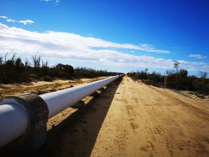 Vanishing point. (Pipeline carrying water for 600km from Perth to Kalgoorlie). Pipeline Red Earth Australia Australian Landscape Western Australia Beautyineverything EyeEm Selects