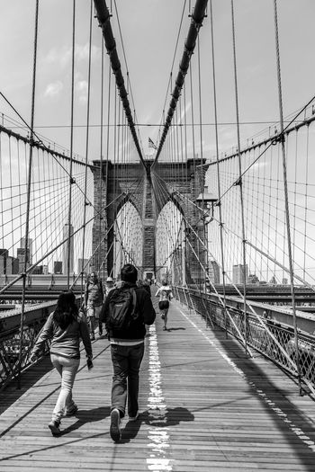 The Brooklyn Bridge... Black And White Blue Skies Boardwalk Bridge Brooklyn Brooklyn Bridge  City City City Life Cityscape Cityscapes Manhattan New York New York City Newyork Newyorkcity NY NYC NYC Photography NYC Street Photography People Real People Street Photography The Brooklyn Bridge Travel