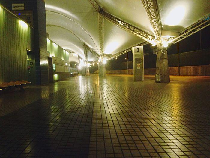 Station Nightphotography Night Light And Shadow