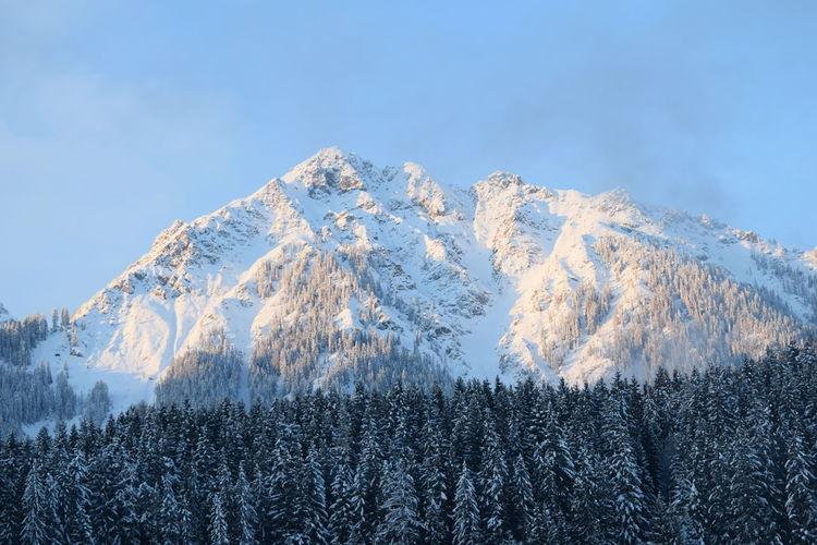 Snow mountain in morning light
