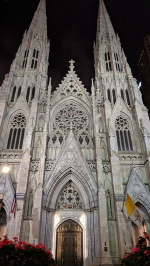 Cathedral in New York Cathedral New York New York City Nightphotography Night Photography Travel Travel Photography Good Times Followme City Place Of Worship Spirituality Arch Architecture Building Exterior