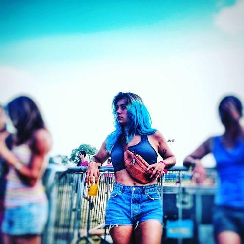 blue Fan -