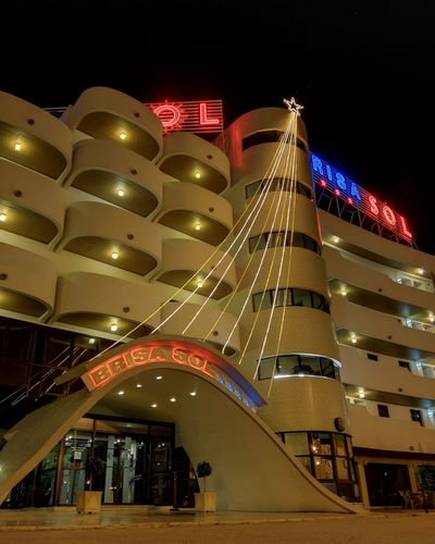 Hotel Brisa solArchitecture Travel Night City Building Exterior Cityscape Illuminated Lighting Equipment Hotel Brisasol