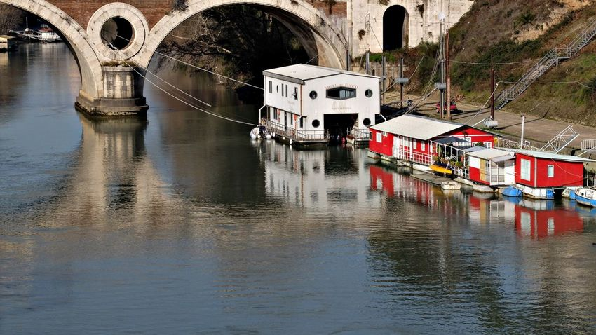EyeEmRoma EyeEmSelect Tevere River Arch Architecture Bridge Bridge - Man Made Structure Building Exterior Built Structure Connection Day Eyem Best Shots Mode Of Transport Nature Nautical Vessel No People Outdoors Pontidiroma Reflections Reflections In The Water Rome Italy Tevereterno Transportation Water Waterfront