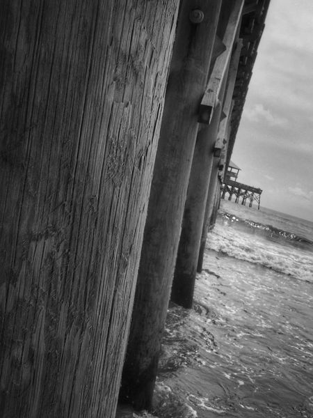Memories! IPhone Bnw_collection Blackandwhite Folly Beach Life Is A Beach Beach