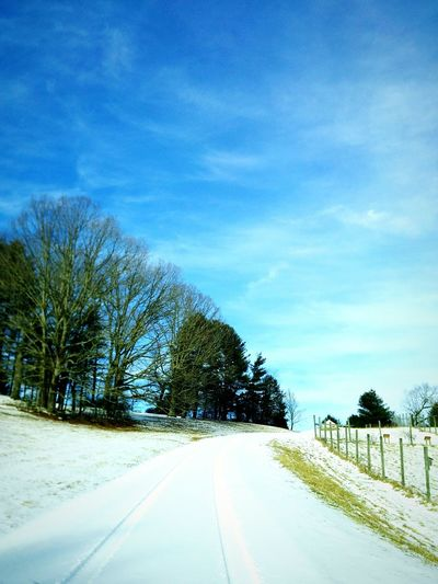 Country Life Country Road Winter Snow Photography Country Side