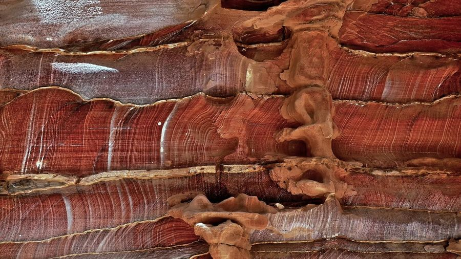 Rock strata 🇯🇴 Backgrounds Beauty In Nature Brown Close-up Day Eroded Full Frame Geology Natural Pattern Nature No People Outdoors Pattern Physical Geography Rock Rock - Object Rock Formation Sandstone Solid Textured  Travel Destinations