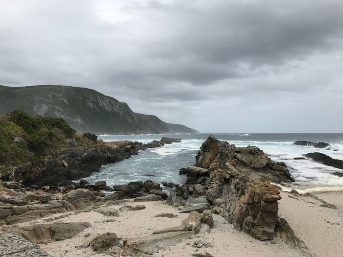 South Africa Coastline Sky Sea Nature Beach Water Sand Outdoors No People Scenery Beauty In Nature