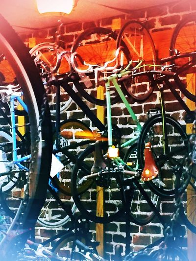 Metal Metallic Cycle Bicycle Close-up Bicycles BikeART VisualArt  Modern Savannah, GA Personal Perspective Streetlifestyle Artphotography Night