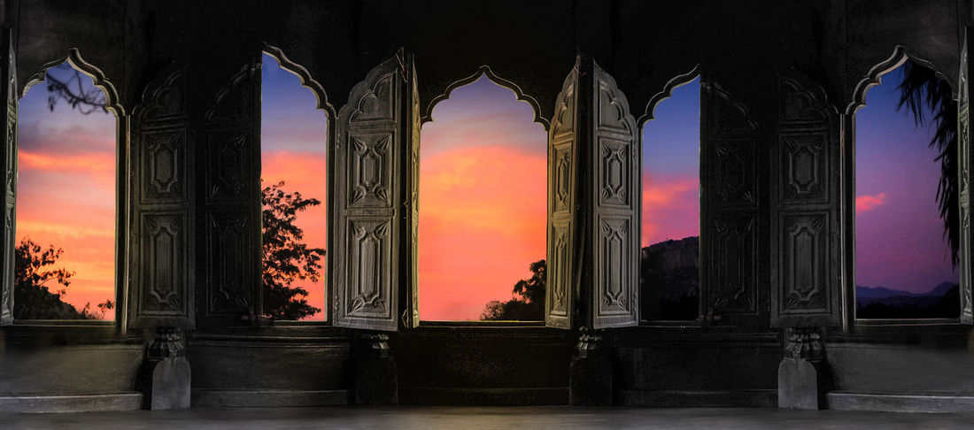 Castle Cinematic Photography Dramatic Sky Light Padmanabhapuram Palace, Kerala Travel Photography Ancient Civilization Architectural Column Architecture Built Structure Day Dreamy History Indoors  Into The Light Ladscape Maharaja No People Old Mansion Sky Sun Travel Destinations Windows