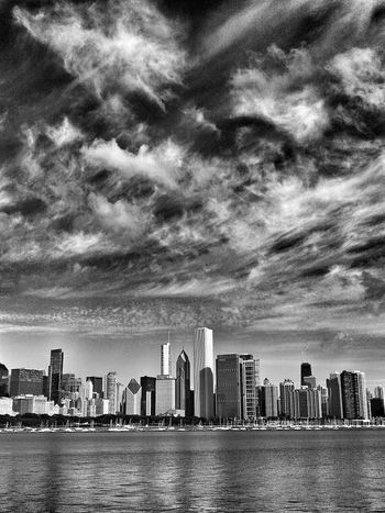 Chicago, Illinois Black & White Blackandwhite EyeEm Best Shots - Black + White Black And White NEM Black&white Black&white Editorial  Clouds Clouds And Sky Taking Photos Chicago Illinois Chicago Skyline Black And White Photography Scenic Landscapes Chicago Landscape_Collection Chicago Architecture Cityscape America Landscapes Landmark Scenics Lakefront Landscape_photography Sheddaquarium