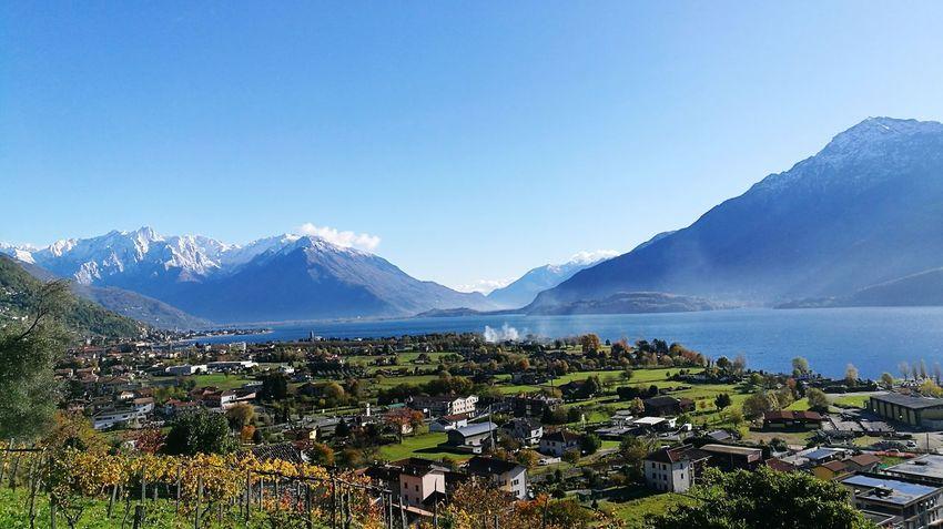 Oggi 07/11/2016 una splendida giornata Nature Lago Di Como, Italy Autunno  Como Passionefotografia Autumn🍁🍁🍁 Italy Lake Of Como Lake Of Como, Lecco Italia
