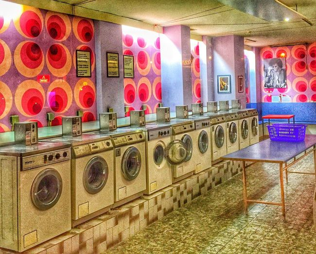 Bright Tranquility No People Illuminated Washsaloon Retro Retro Styled Colors Colorful Seventies Seventies Scope Magic Loundry Loundryroom Washingmachine Washingmachines