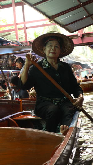 Hat Tourism Cultures River Travel People Outdoors Good Worker Asian Style Conical Hat Travel Destinations Thailand