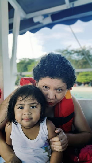 Mother and Daughter Samal Eyeem Philippines Portrait EyeEm Best Shots Close-up Beach Mother Daughter Toddler  Family