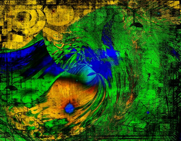 An Abstract Land. An abstract created from one of my photos. Using a couple different editing apps. Multi Colored Blue Vibrant Color Green Color Abstract Nature Backgrounds No People Outdoors Art ArtWork Abstractart Abstractions In Colors Trees Mountains Gold Yellow Red Art From Photo Photo Manipulation Photo Editing Abstract Nature Art Creation ArtPop