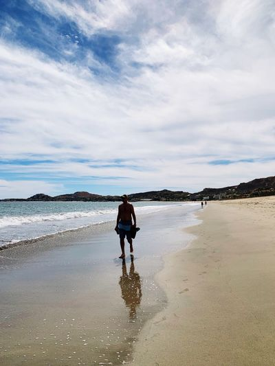 Beach Water Land Sky Cloud - Sky Full Length Sea Lifestyles Walking Leisure Activity