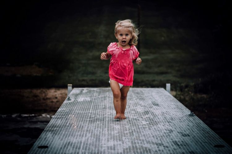 EyeEm Selects Childhood Full Length One Person Girls Real People Outdoors Night Water People