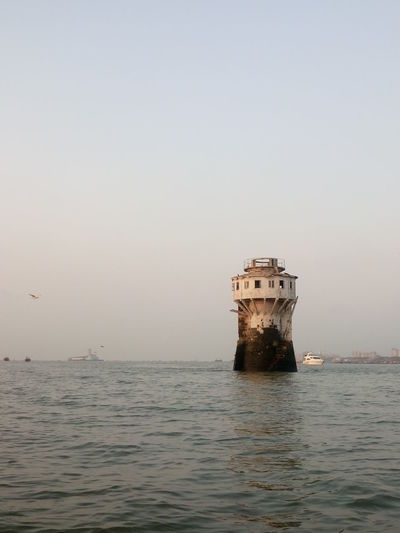Architecture Beauty In Nature Business Finance And Industry Day Lighthouse Mumbai Nature No People Outdoors Scenics Sea Sky Tranquility Water